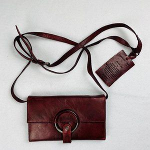 Latico Leather Jil Clutch Crossbody Purse Oxblood